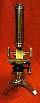 Antique Victorian Brass Microscope
