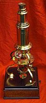 Brass Culpeper Microscope On Mahogany Stand