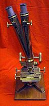 Large Antique Victorian Grand Binocular Microscope