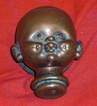 Antique Copper Mould For Making Dolls Heads