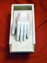 Sculpture Of Human Hand In Box