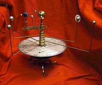 Antique Style Orrery Model Of The Solar System, Planetarium