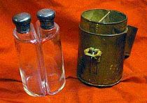 Antique Leather Cased Bottles