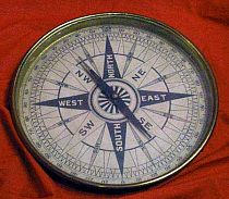 Antique Large Form Magnetic Compass