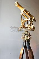 Period Brass Theodolite on wooden tripod