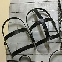 Wrought iron head restraint