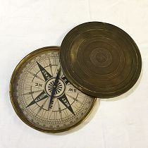 Brass cased compass with lid