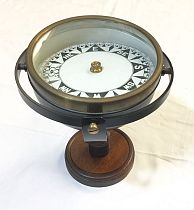 Gimballed compass on stand