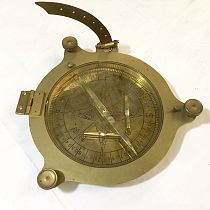 Brass compass with levels