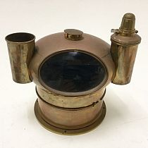 Brass compass binnacle