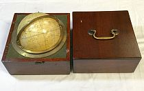 Mahogany-cased travel globe