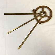 Brass station pointer