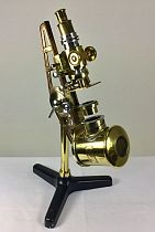Large brass microscope