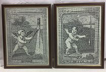 Pair of etchings