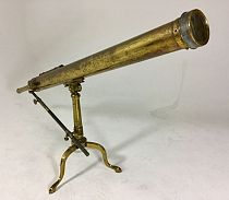 Brass desktop telescope