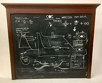 Large schoolroom blackboard