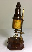 Wooden bodied microscope