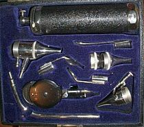 Ophthalmoscope and ent set 20th c