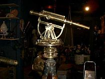 19th c brass theodolite with tripod