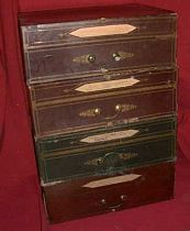Victorian file boxes