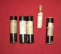 Cased homeopathic bottles