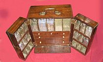 Break front medicine chest 19th c