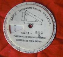 Celluloid Circular Slide Rule