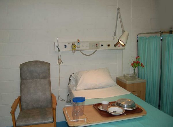 Hospital Ward One Bed Set Up