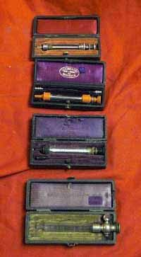 Antique Pocket Cased Medical Injection Syringes