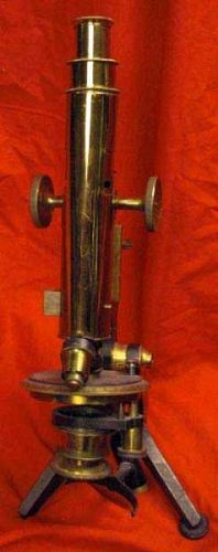 Large Antique Brass Microscope