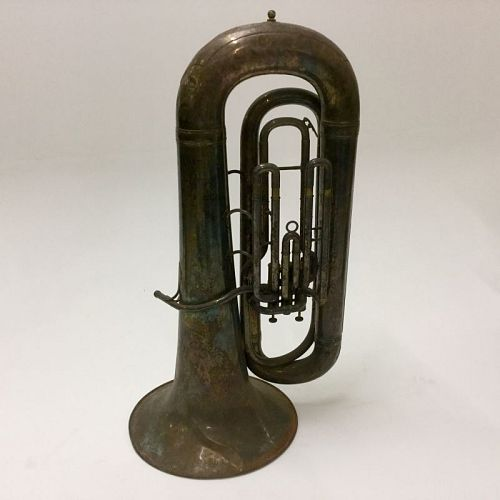 Tarnished silver tuba