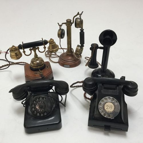 Selection of vintage telephones