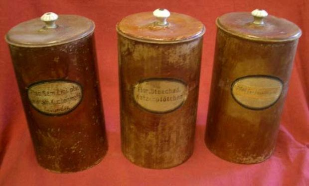 Selection of Continental Card Pharmacy Jars.