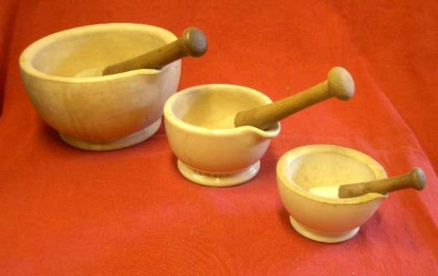 Ceramic Pestle and Mortars