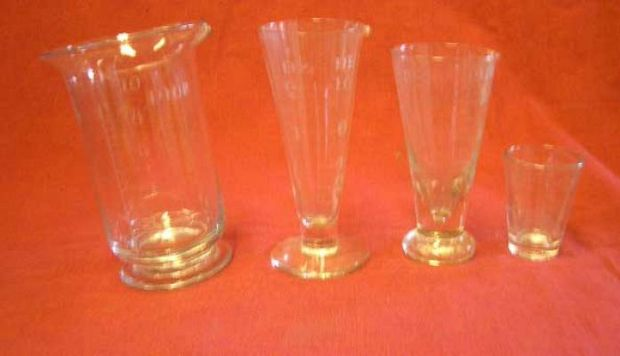 Large Selection of Glass Measures