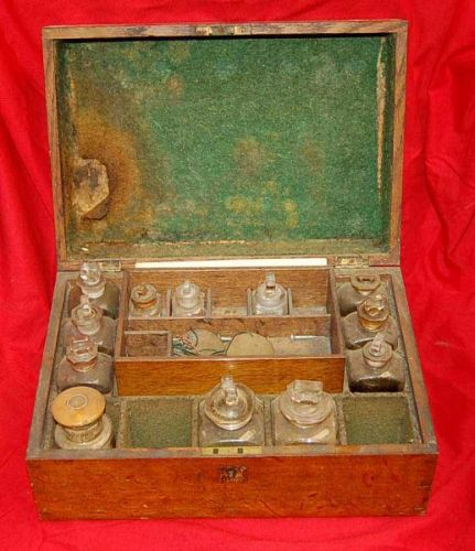 Top Opening Medicine Chest 19th C