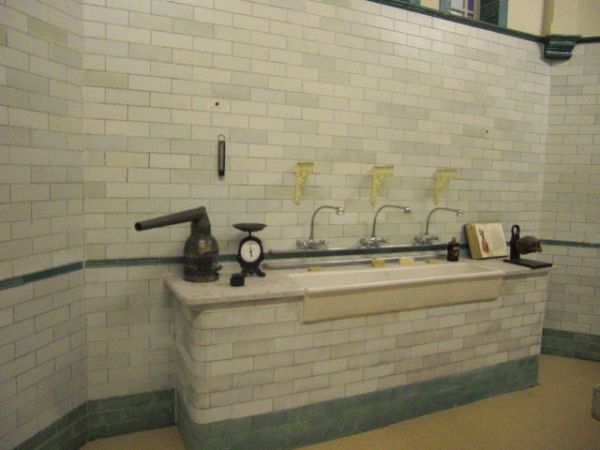 Victorian Operating Theatre with Large Ceramic Basin